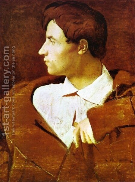 The Architect Jean-Baptiste Desdeban by Jean Auguste Dominique Ingres - Reproduction Oil Painting