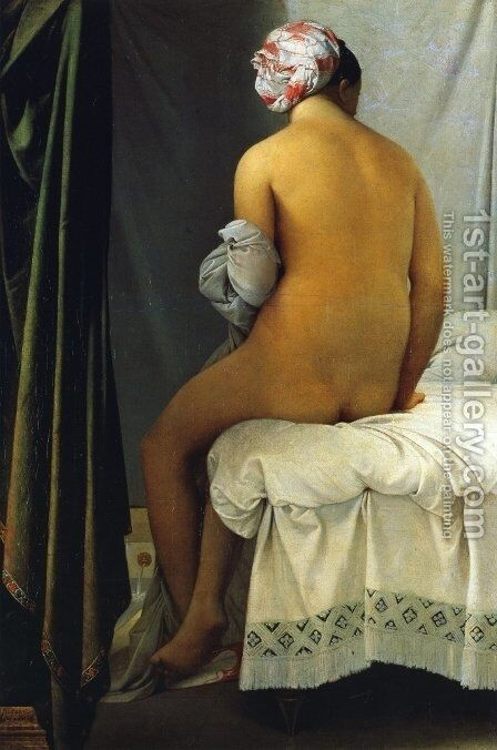 La Grande Baigneuse by Jean Auguste Dominique Ingres - Reproduction Oil Painting