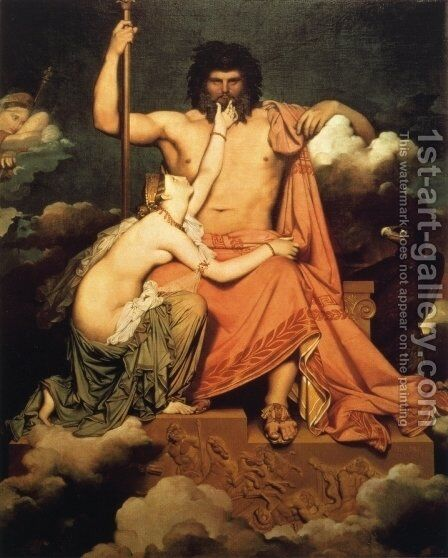 Jupiter and Thetis by Jean Auguste Dominique Ingres - Reproduction Oil Painting