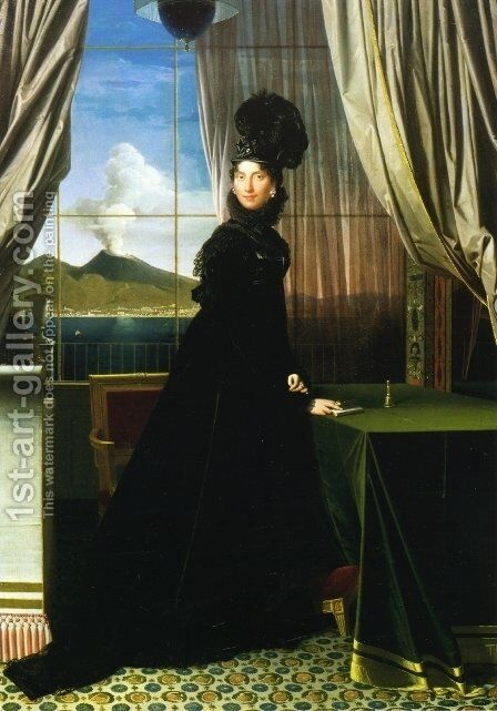 Carolline Murat, Queen of Naples by Jean Auguste Dominique Ingres - Reproduction Oil Painting