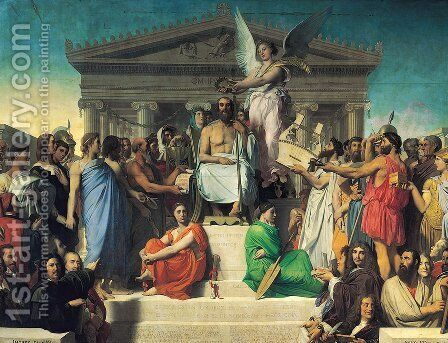 The Apotheosis of Homer 2 by Jean Auguste Dominique Ingres - Reproduction Oil Painting