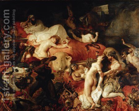 The Death of Sardanapalus by Eugene Delacroix - Reproduction Oil Painting
