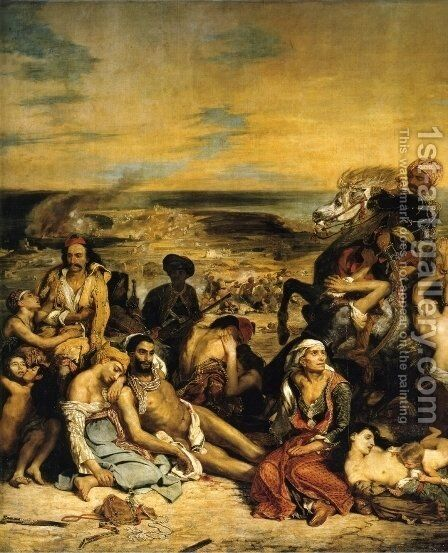 The Massacre of Chios by Eugene Delacroix - Reproduction Oil Painting