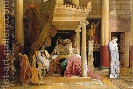 Antiochus and Stratonice 2 by Jean Auguste Dominique Ingres - Reproduction Oil Painting