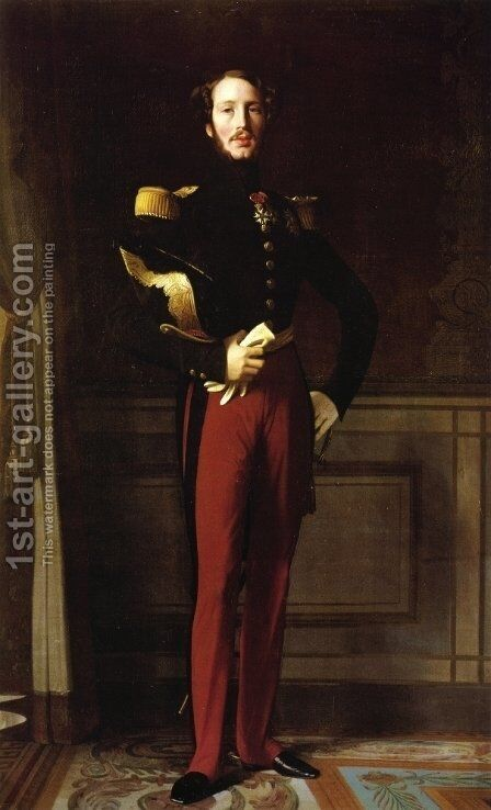 Duke Ferdinand-Philippe of Orleans by Jean Auguste Dominique Ingres - Reproduction Oil Painting