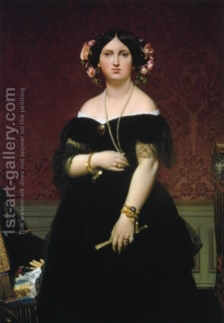 Ines Moitessier I by Jean Auguste Dominique Ingres - Reproduction Oil Painting