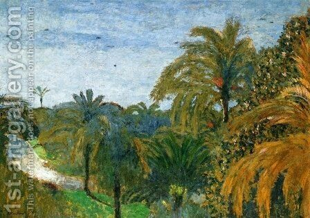 Garden in Cannes by Edouard  (Jean-Edouard) Vuillard - Reproduction Oil Painting