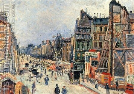 The Opening of the Rue Reaumur by Maximilien Luce - Reproduction Oil Painting