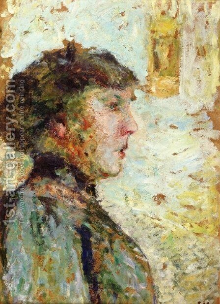 Portrait of a Woman in Profile by Edouard  (Jean-Edouard) Vuillard - Reproduction Oil Painting