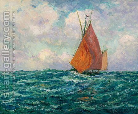 Tuna Boat at Sea by Maxime Maufra - Reproduction Oil Painting