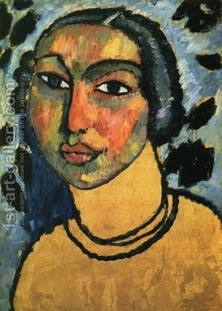 A Jewish Maiden by Alexei Jawlensky - Reproduction Oil Painting