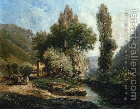 Saint Rambert in Bugey by Alexandre-Rene Vernon - Reproduction Oil Painting