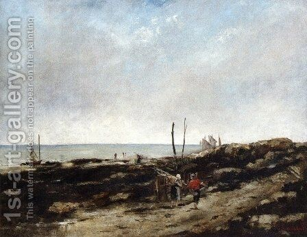 Going Fishing by Gustave Courbet - Reproduction Oil Painting