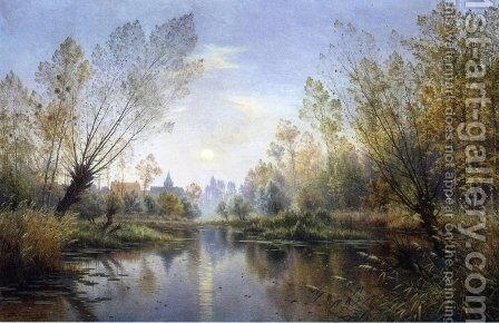 Autumn Evening by Armand Guery - Reproduction Oil Painting