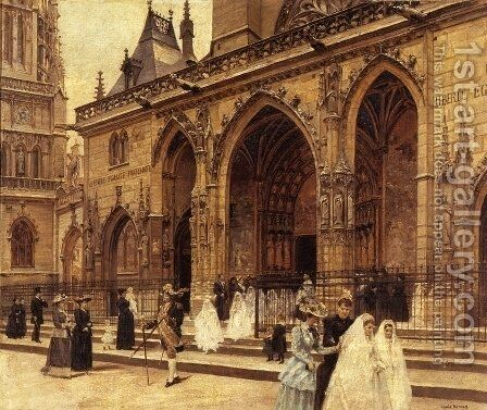 First Communion by Louis Beroud - Reproduction Oil Painting