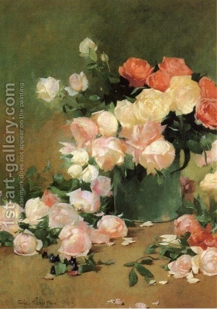 Roses by Emil Carlsen - Reproduction Oil Painting