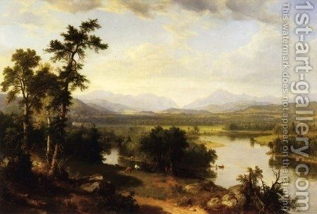 White Mountains Scenery, Franconia Notch, New Hampshire by Asher Brown Durand - Reproduction Oil Painting