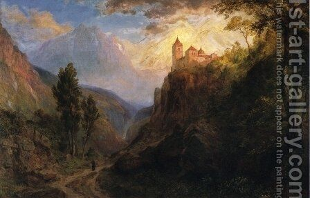 The Monastery of San Pedro by Frederic Edwin Church - Reproduction Oil Painting