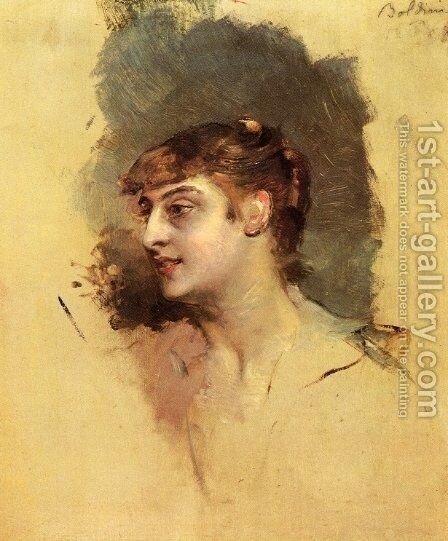 Portrait of a Lady by Giovanni Boldini - Reproduction Oil Painting