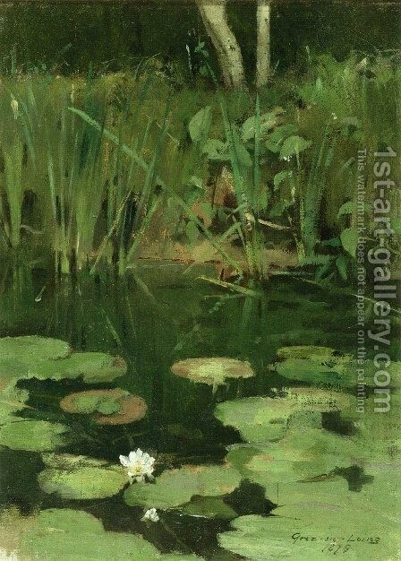 Water Lilies by Theodore Robinson - Reproduction Oil Painting