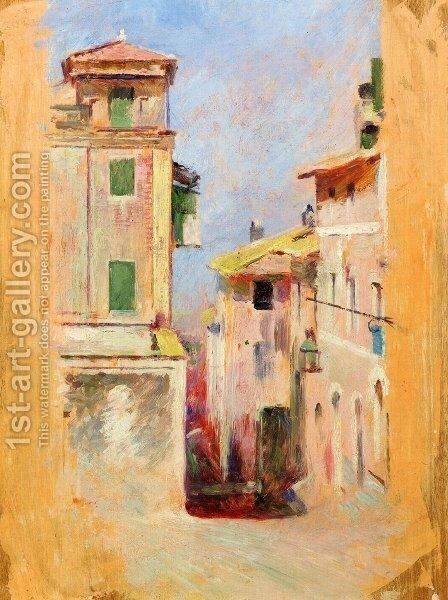 Mediterranean View by Theodore Robinson - Reproduction Oil Painting