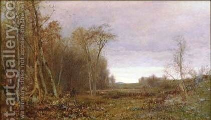 Autumn Idyl by Jervis McEntee - Reproduction Oil Painting