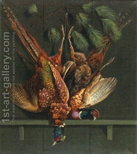 Hanging Pheasants by Alexander Pope - Reproduction Oil Painting