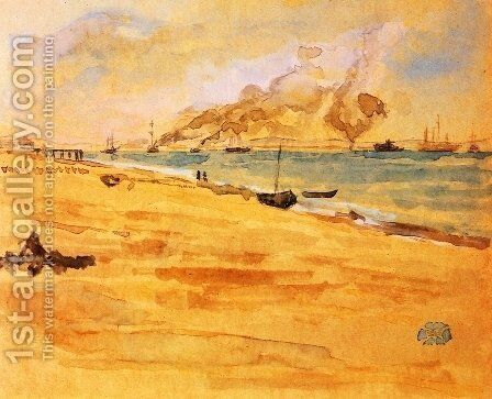 "Study for ""Mouth of the River"" by James Abbott McNeill Whistler - Reproduction Oil Painting"