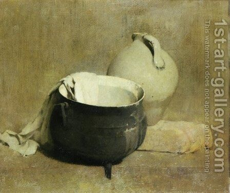 Still Life with Kettle and Jug by Emil Carlsen - Reproduction Oil Painting