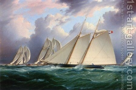 Yacht 'Orion' by James E. Buttersworth - Reproduction Oil Painting