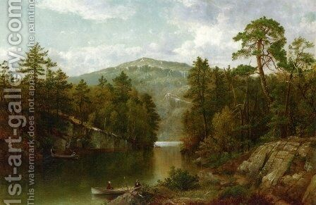 A View on Lake George by David Johnson - Reproduction Oil Painting