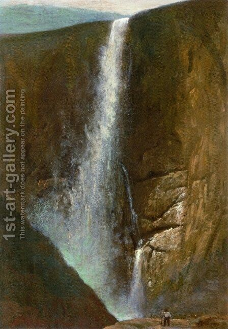 The Falls by Albert Bierstadt - Reproduction Oil Painting