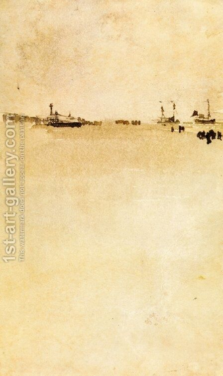 Beach Scene I by James Abbott McNeill Whistler - Reproduction Oil Painting