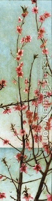 Blossoming Pink Branches by Charles Caryl Coleman - Reproduction Oil Painting
