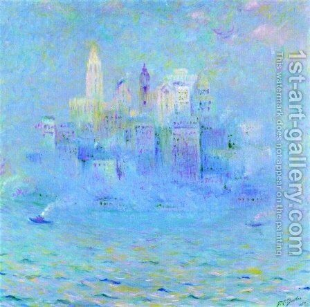 Lower Manhattan by Theodore Butler - Reproduction Oil Painting