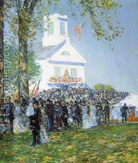 Country Fair, New England by Frederick Childe Hassam - Reproduction Oil Painting