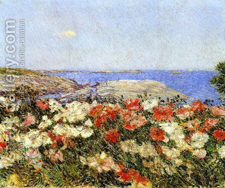 Poppies on the Isles of Shoals by Frederick Childe Hassam - Reproduction Oil Painting
