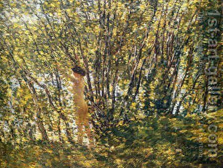 Nude in Sunlilt Wood by Frederick Childe Hassam - Reproduction Oil Painting