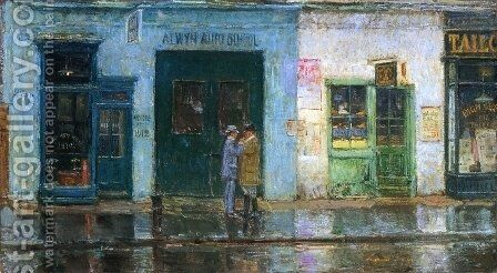 Little Cobbler's Shop by Frederick Childe Hassam - Reproduction Oil Painting