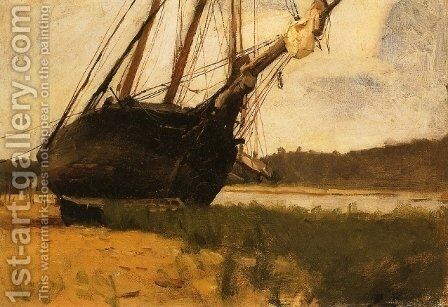 Beached by Dennis Miller Bunker - Reproduction Oil Painting