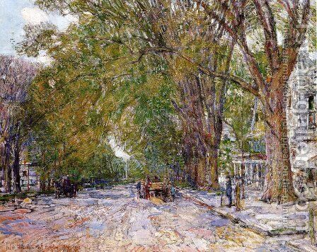 Elms, East Hampton, New York by Frederick Childe Hassam - Reproduction Oil Painting