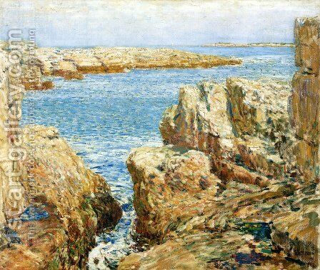 Coast Scene, Isles of Shoals by Frederick Childe Hassam - Reproduction Oil Painting
