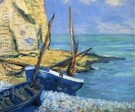 Boats at Etretat by Theodore Butler - Reproduction Oil Painting