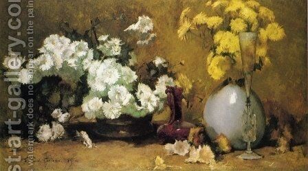 Chrysanthemums I by Emil Carlsen - Reproduction Oil Painting