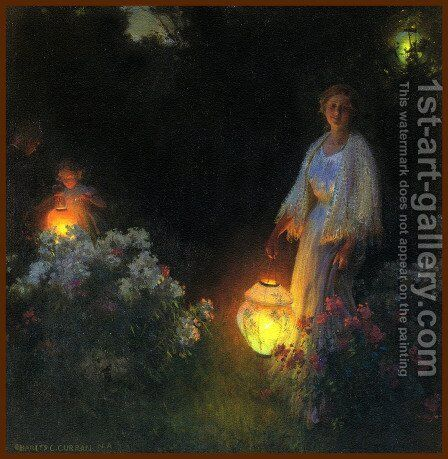 The Lanterns by Charles Curran - Reproduction Oil Painting