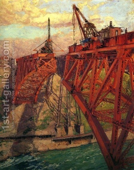Building the Bridge by Claire Shuttleworth - Reproduction Oil Painting