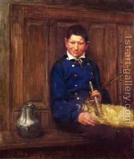The Bagpipe Player by Henry Ossawa Tanner - Reproduction Oil Painting