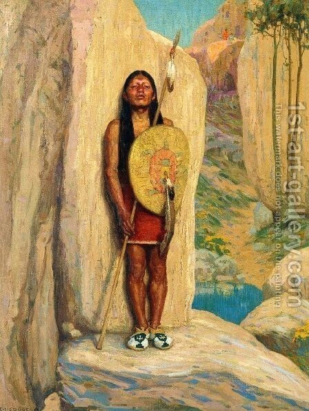 The Sentinel by Eanger Irving Couse - Reproduction Oil Painting