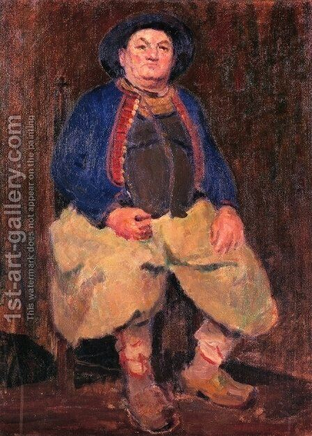 A Brittany Fisherman by Nellie Shepherd - Reproduction Oil Painting