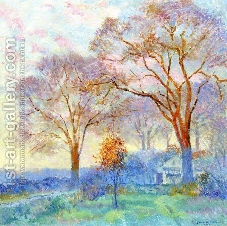 Elms at Sunrise by Bernhard Gutmann - Reproduction Oil Painting
